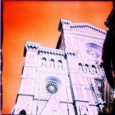 """Welcome to #Florence""  The Duomo shot with a #Kodak Duaflex camera  120 #Lomography #Turquoise film.  #Duomo #Firenze #tldif #visitflorence #adayinflorence #firenzegram #tuscanybuzz #igerstoscana #igersfirenze #lomographyfilm #analogue #analog #analoguelove #analoguevibes #analogfeatures #analogphotography #lomofi #resourcemag #orange #church"