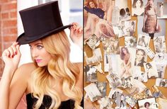 Lauren Conrad in her Top Hat for New Years Eve 2013