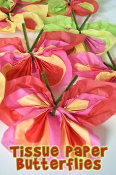 Make Easy Tissue Paper Butterflies