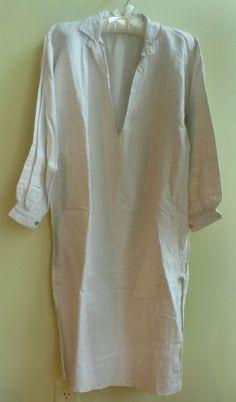 Vintage French linen homespun smock nightshirt