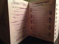 Z fold wedding program!