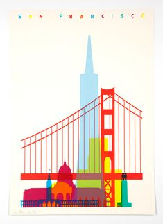 Shapes of cities screenprints - Yoni Alter