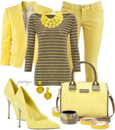 """""""Dot Dash"""" by rockreborn on Polyvore.  Not sure if I am brave enough to wear together, but love all of these pieces."""