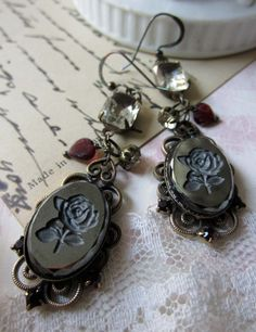 Glass Roses Earrings