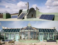 This home is called an Earthship. It is designed to be a green self sustaining home. I can't even say how much I want one.