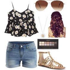 Cute simple outfit by tumblr-chick21 on Polyvore featuring polyvore, fashion, style, JVL, VILA, Sole Society, Daisy Jewellery, Eloquii and Forever 21