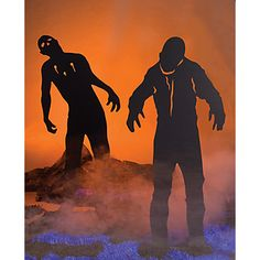 Zombie Silhouettes - Includes pics I can use to make life size zombies.
