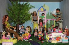 barbie doll convention dioramas | Kelly & Friends Birthday Party