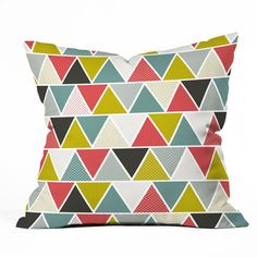 Triangulum Throw Pillow, $35, now featured on Fab.