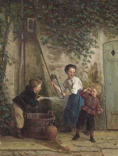 Théophile Emmanuel Duverger - Playing with the pump