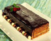 Recetas de tarta de galletas con chocolate y dulce de leche | Qué Recetas