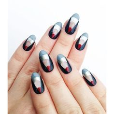 The Illustrated Nail - Peek-a-boo design using the Fifty Shades of Grey... featuring polyvore, beauty products and nail care