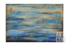 "Blue Bay Jazz Art Print by Erin Ashley at Art.com | 36"" x 24"" giclee print, with black frame  $227.49"