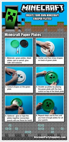 6 Super Easy Steps To Make Your Own Minecraft Party Plates!