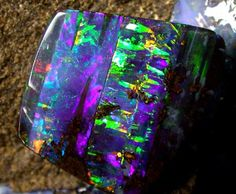 Panel boulder black opal. Can we just take a minute here to appreciate opals ...