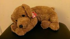 TY Classic Scooter Tan Puppy Dog Floppy Plush 1999 16' NWT Retired