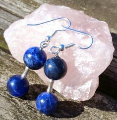 Hey, I found this really awesome Etsy listing at https://www.etsy.com/listing/222931334/sodalite-dangle-earrings-with-sterling