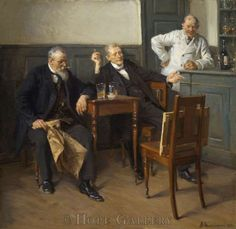 Erik Henningsen (1855-1930): The Art Critics, 1915