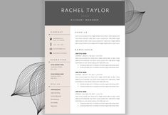 beautiful cv design for copywriter - Buscar con Google