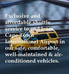 Airport Shuttle Online Booking, Confirmation and Payment Airport Shuttle, International Airport, Cape Town