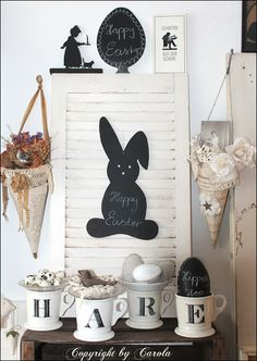 Welcome to Boxwood Cottage: The bunnies are loose ~ pre Easter deco ideas & a winner!