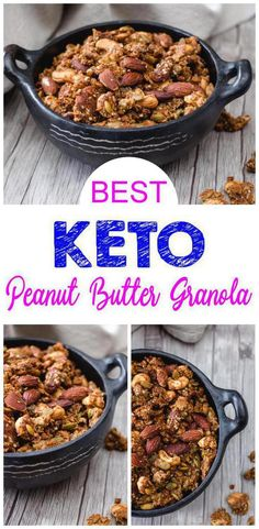 Welcome your new favorite keto snack! This healthy keto granola recipe is so easy to prepare and super delicious. A quick keto peanut butter granola recipe you won't want to pass up. Ketogenic Diet Meal Plan, Diet Meal Plans, Ketogenic Recipes, Low Carb Recipes, Diet Recipes, Healthy Recipes, Dessert Recipes, Breakfast Recipes, Slimfast Recipes