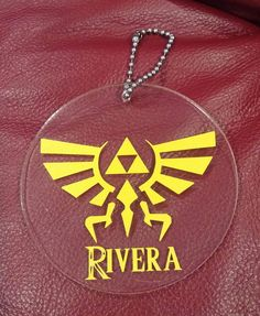 Zelda Triforce Keychain/Luggage tag https://www.facebook.com/thequeenbeechic