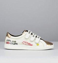 Sneakers cuir blanches et dorées Scarlet Blanc Tatoosh pour femme prix Baskets Monshowroom 195.00 €