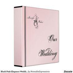 Blush Pink Elegance Wedding Binder