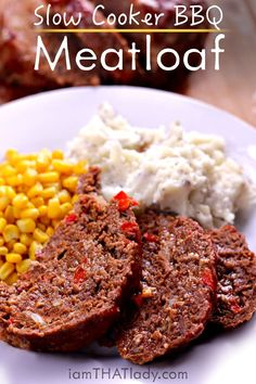 Stop looking for Meatloaf recipes! This crockpot meatloaf is the BEST and ONLY one you'll need! It's absolutely perfect. So much flavor, so moist, SO EASY!