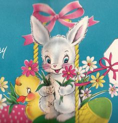 Vintage 1950s An Easter Wish Greetings Card