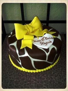 Giraffe Print Birthday Cake By amylexi on CakeCentral.com