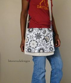 Abstract Floral Print Messenger Bag by lstonerockdesigns on Etsy, $35.00