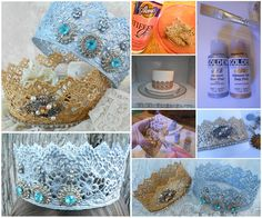 microwave crown  Detailed instructions: http://www.rookno17.com/2012/02/lace-crowns-quick-microwave-method.html