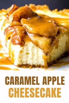 Seriously the best caramel apple cheesecake ever!!