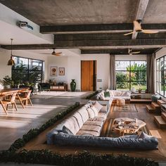 Living Room Rug: How to Choose Best Rug? Find ideas for Living Room with many of inspiring photos from design professionals. Home Interior Design, Interior Architecture, Architecture Plan, Amazing Architecture, Sunken Living Room, Casas Containers, Home Improvement Loans, Cozy House, My Dream Home