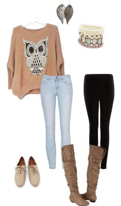 """Casual winter outfit"" by cheyenne-son ❤ liked on Polyvore"
