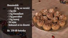 Nagytarcsai diós batyu - batoska - sütemény Hungarian Desserts, Muffin, Cookies, Breakfast, Recipes, Youtube, God, Breakfast Cafe, Muffins