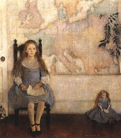 Lilian Westcott Hale (1881-1963),  Nancy and the Map of Europe
