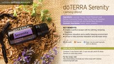Serenity is a blend of essential oils with known calming properties which create a sense of well-being and relaxation. Lavender, sweet marjoram, roman chamomile, ylang ylang, sandalwood and vanilla bean create a subtle aroma ideal for aromatic diffusion or topical application. Applied to the bottom of the feet at bedtime, dōTERRA's Serenity is an excellent way to support restful sleep. Added to a warm bath, Serenity creates the perfect escape with its peaceful, renewing fragrance.