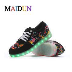 2017NEW Light man sapato masculine shoes LED colorful Black tenis masculino esportivo glowing neon man Fashion basket shoes nmd
