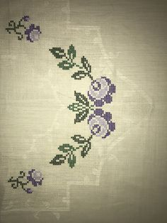 Cross Stitch Borders, Cross Stitch Flowers, Bargello, Border Design, Diy Clothes, Origami, Diy And Crafts, Embroidery, Cross Stitch Embroidery