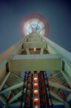 Underneath the Space Needle at the 1962 World's Fair, Seattle