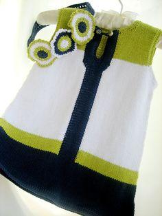 Sale-Knitted baby dress cotton baby dress por Svetlanababyknitting