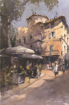 Vladislav Yeliseyev uses his masterful drawing skills to build the foundation of his work, but allows for plenty of room to lay in expressive washes of transparent watercolor.