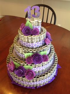 money cake - change up the colors for boy or girl.