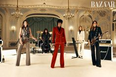 Cindy Crawford, Eva Herzigova, Naomi Campbell, Helena Christensen, and Yasmin Le Bon become Duran Duran in a new music video 'Girl Panic' made in collaboration with Swarovski and Harper's Bazaar. The video will premiere on Vevo on November 8, 2011. The editorial appears in Harper's Bazaar UK December 2011