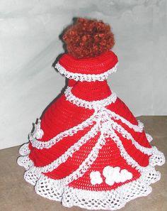 Crochet Fashion Doll Barbie Pattern- #660 CALENDAR DOLL DEC 2010