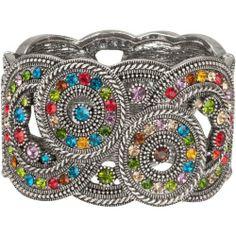 Heirloom Finds Colorful Crystal Kaleidoscope Wide Cuff Bracelet Heirloom Finds, http://www.amazon.com/dp/B009VH2G4Q/ref=cm_sw_r_pi_dp_frnvrb1RGGPB9