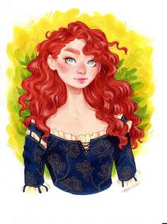 """Merida""- Original Drawing via Saruca Tepes. Click on the image to see more!"
